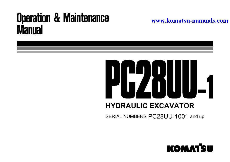 Komatsu Pc28uu 1 Jpn Operation And Maintenance Manuals Excavators Crawler Download
